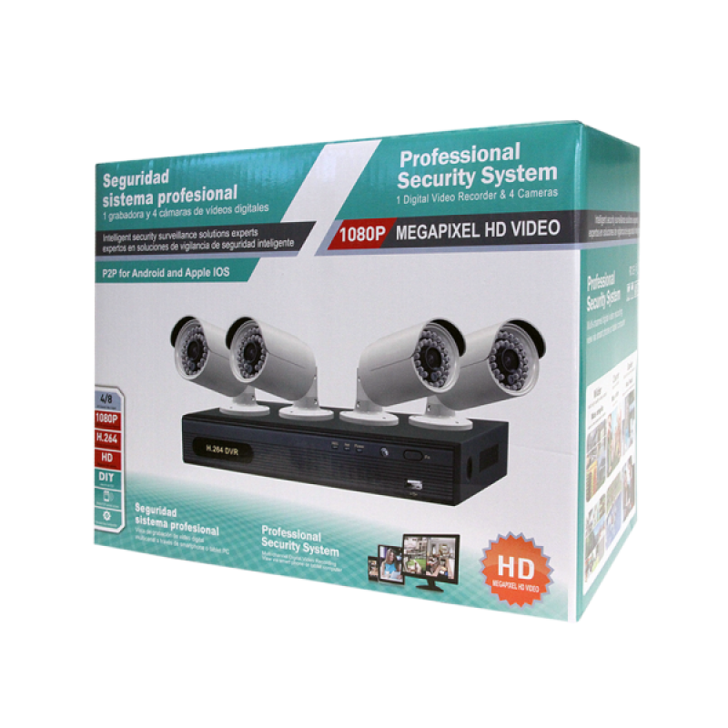 ED5008K-4 | 8CH 1080P DVR & 4 1080P Cameras Kit