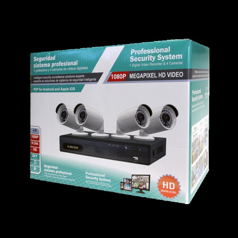 ED5004K-4 | 4CH 1080P DVR & 4 1080P Cameras Kit