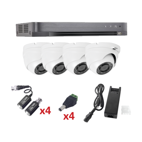 Video Surveillance 4 Channels Kit Turbo HD Technology
