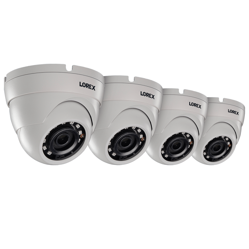 2K (5MP) Super HD Weatherproof Color Night Vision Dome Security Camera (4-pack)