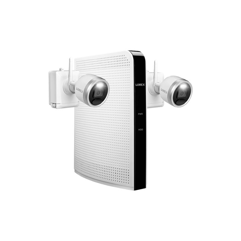 1080p HD Wire-Free Security System with 2 Battery-Operated Active Deterrence Cameras and Person Detection