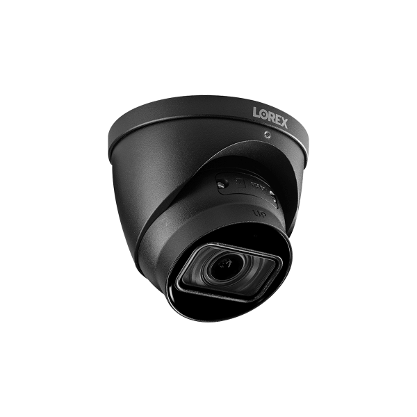 4K (8MP) Motorized Varifocal Smart IP Black Dome Security Camera with 4x Optical Zoom, Real-Time 30FPS Recording and Listen-In Audio