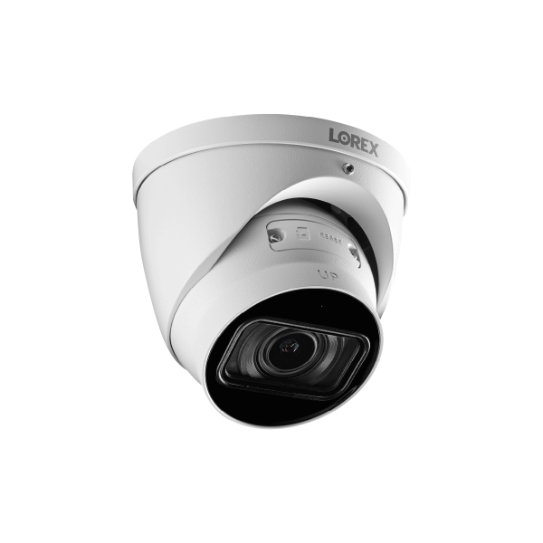 4K (8MP) Motorized Varifocal Smart IP White Dome Security Camera with 4x Optical Zoom, Real-Time 30FPS Recording and Listen-In Audio