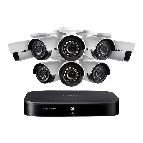 1080p HD 8-Channel Security System with Eight 1080p HD Outdoor Cameras, Advanced Motion Detection and Smart Home Voice Control