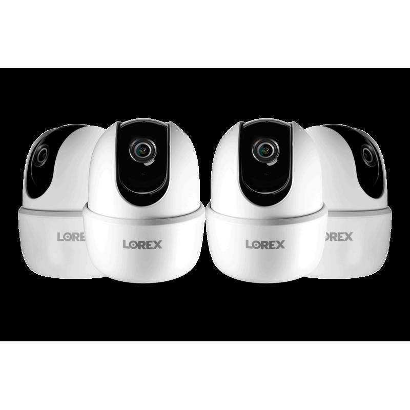 1080p Full HD Smart Indoor Wi-Fi Pan-Tilt Security Camera (4-pack)