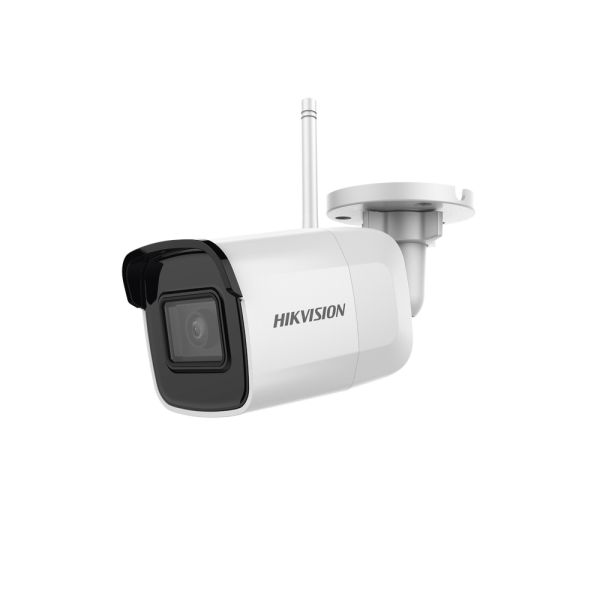 4 Megapixel Mini Bullet IP / 30 m IR / IP66 / WiFi / dWDR / Lens 2.8 mm / Supports Micro SD / H.265+ / Built-in Microphone