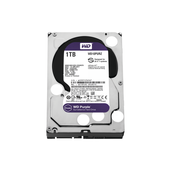 WD HDD 1TB Optimized for Video Surveillance