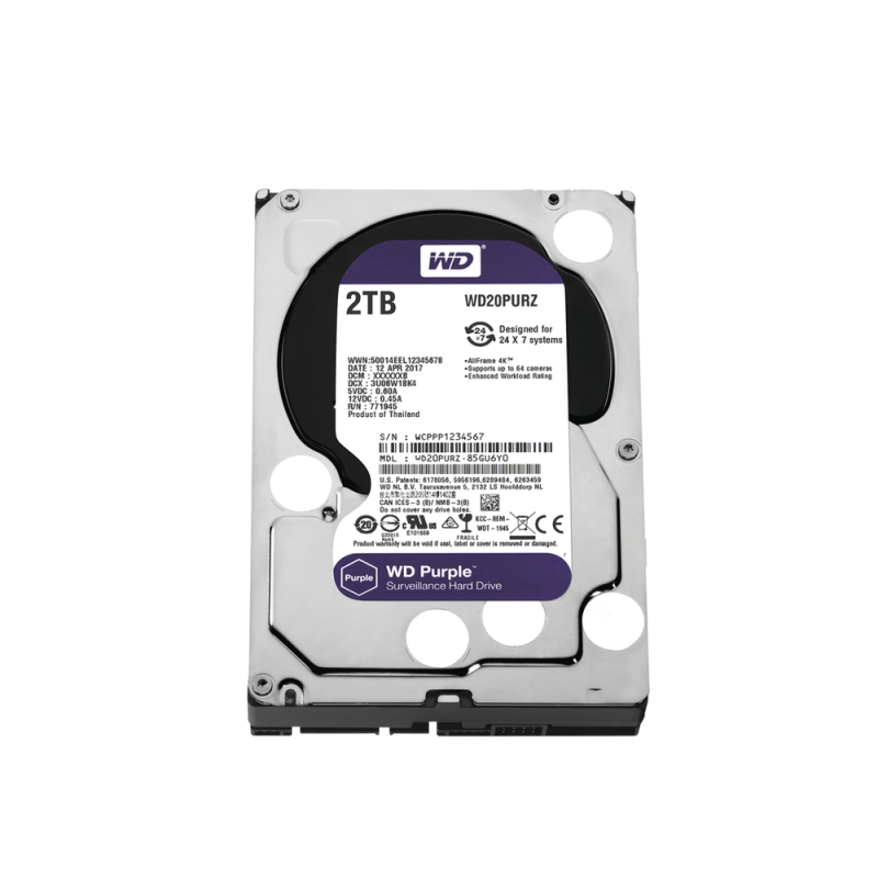 WD HDD 2TB Optimized for Video Surveillance