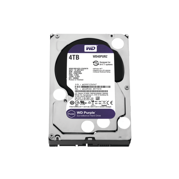 WD HDD 4TB Optimized for Video Surveillance