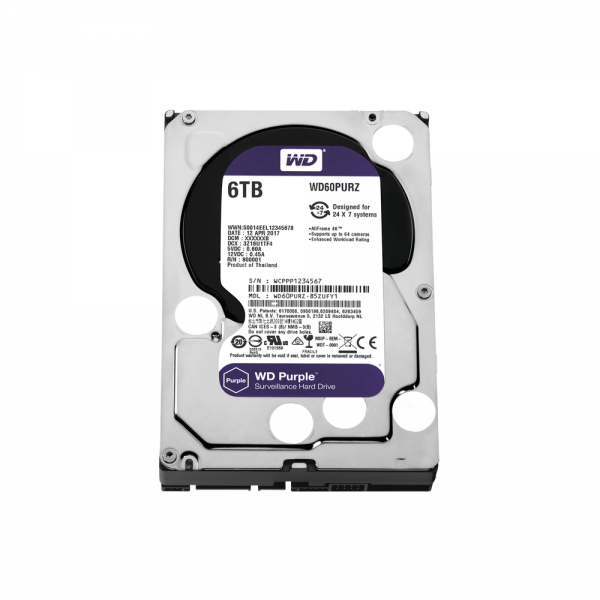 WD HDD 6TB Optimized for Video Surveillance