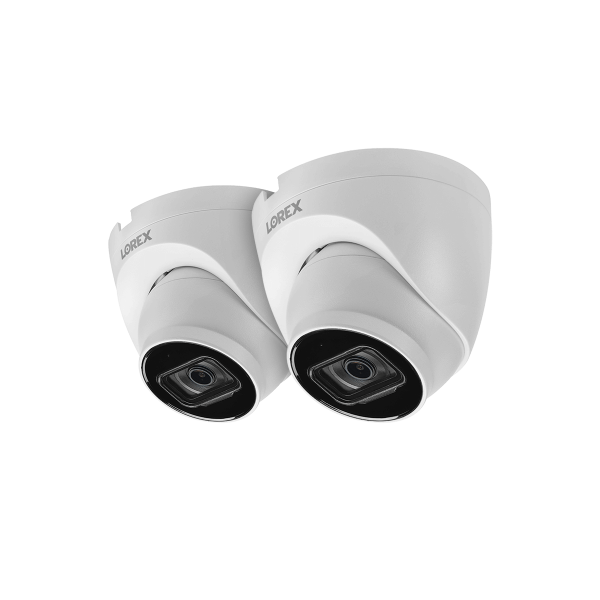 4K Ultra HD IP Dome Security Camera with Listen-In Audio (2-pack)